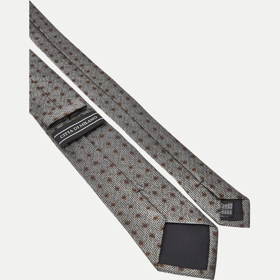 9111CR - Krawatten - GRÅ / BRUN - 3